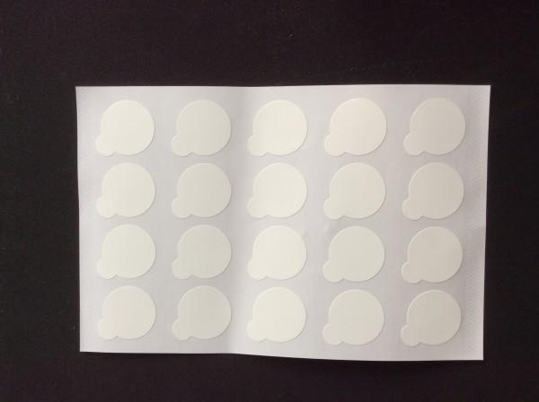 Klebepunkte zum Schutz der Glassteine